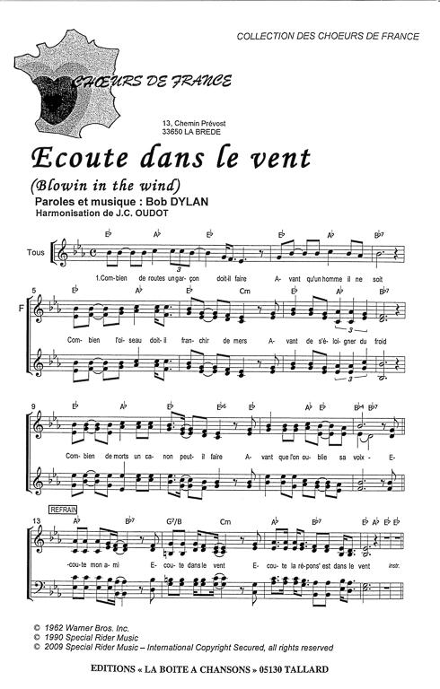 Partition de musique diteur de partitions pour chorale for Dans banga paroles