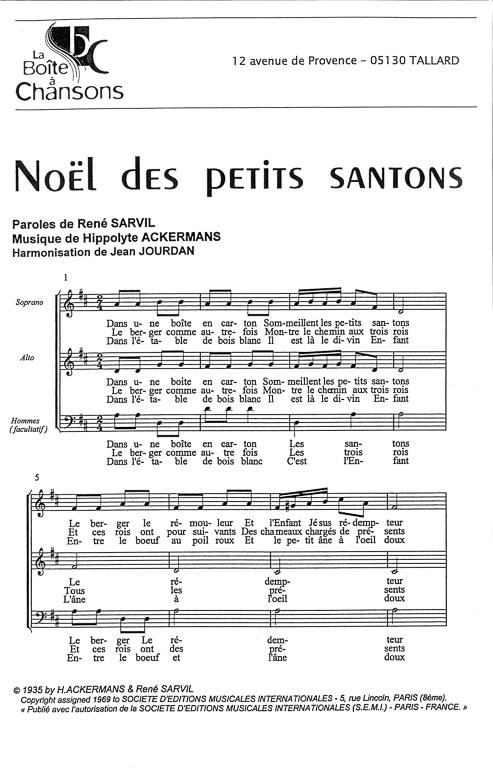partition noel des santons de provence
