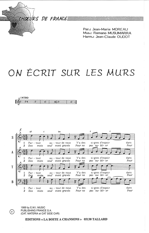 photo partition flute on ecrit sur les murs