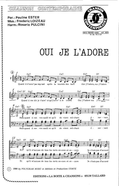 partition musique oui oui