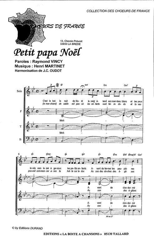 partition chant noel pour chorale