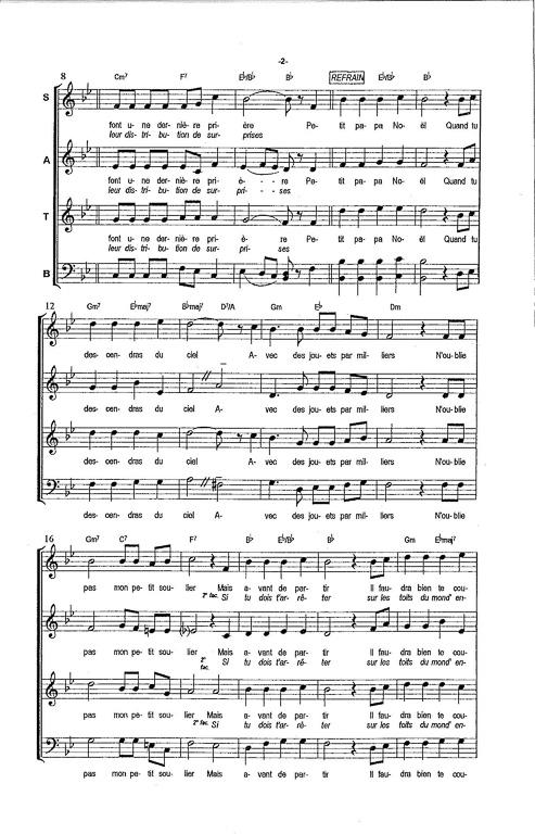 partition noel chorale