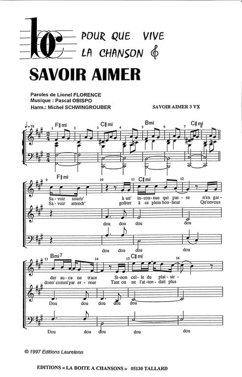Partition de musique diteur de partitions pour chorale - Le vent nous portera guitare ...