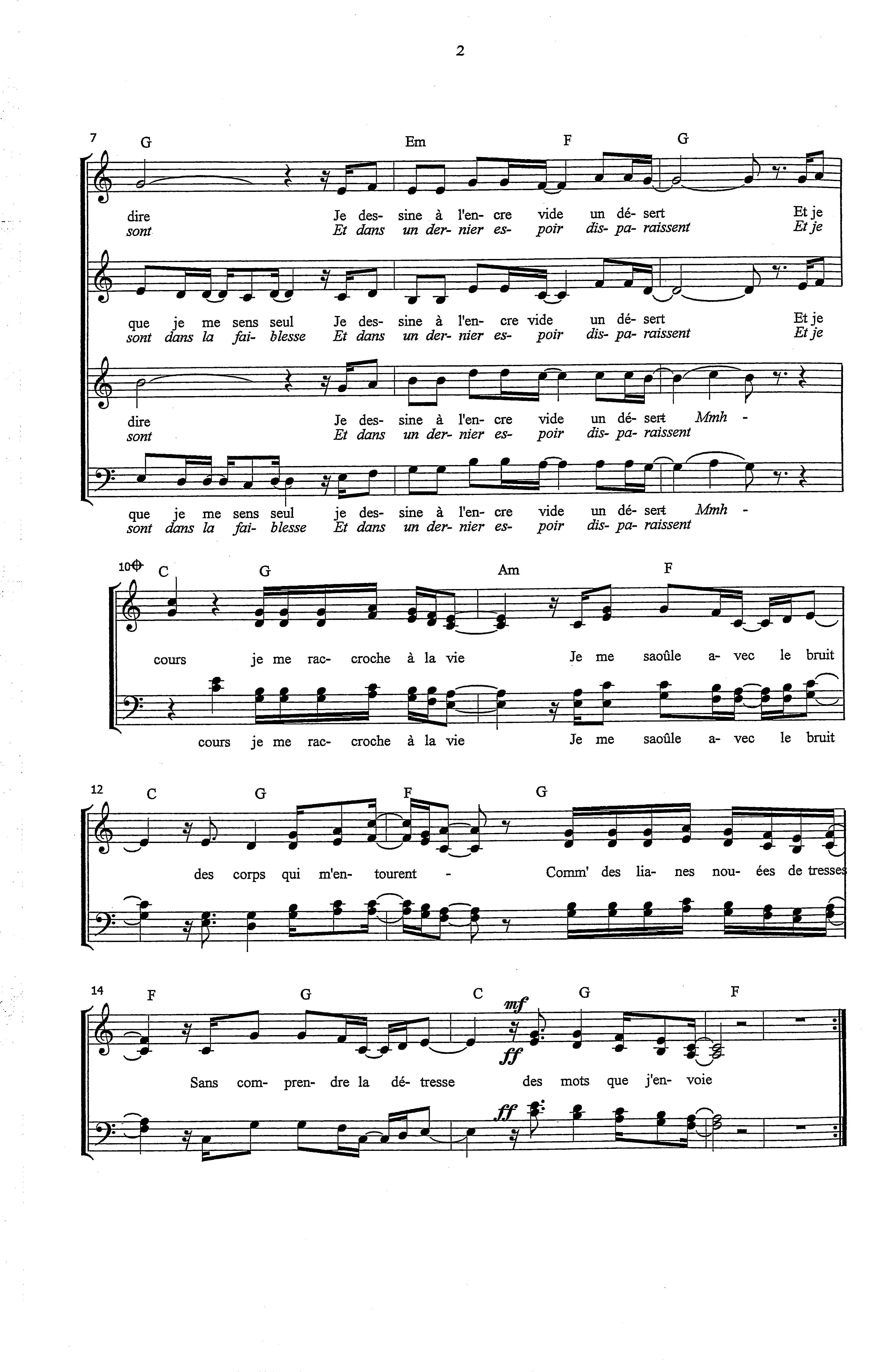 partition piano c est un sos