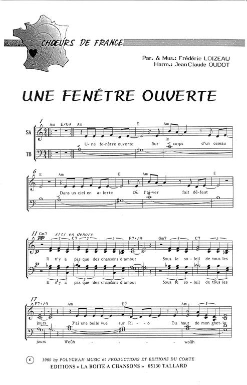 partition de musique diteur de partitions pour chorale